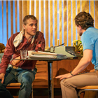 Kit Harrington and Johnny Flynn in True West at the Vaudeville Theatre, London. Photo Credit: Marc Brenner