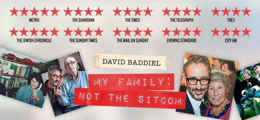 David Baddiel: My Family - Not The Sitcom - Vaudeville Theatre