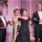 Samantha Spiro and the cast of Lady Windermere's Fan at the Vaudeville Theatre, London. Credit: Marc Brenner