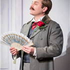 Kevin Bishop in Lady Windermere's Fan at the Vaudeville Theatre, London. Credit: Marc Brenner