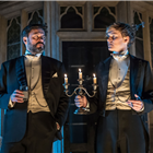 Dominic Rowan (Lord Illingworth) and Harry Lister Smith (Gerald Arbuthnot) in A Woman of No Importance. Photo by Marc Brenner