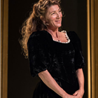 Eve Best (Mrs Arbuthnot) in A Woman No Importance. Photo by Marc Brenner