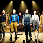 The cast of The Selfish Giant at the Vaudeville Theatre, London. Photo credit: Robert Day.