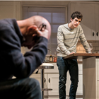 Andrew Wooddall and Ben Edelman in Admissions at Trafalgar Studios. Photo Credit: Johan Persson
