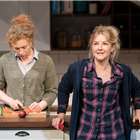 Alex Kingston and Sarah Hadland in Admissions at Trafalgar Studios. Photo Credit: Johan Persson