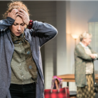 Alex Kingston in Admissions at Trafalgar Studios. Photo Credit: Johan Persson