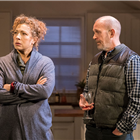 Alex Kingston and Andrew Wooddall in Admissions at Trafalgar Studios. Photo Credit: Johan Persson