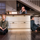 Alex Kingston, Andrew Wooddall and Ben Edelman in Admissions at Trafalgar Studios. Photo Credit: Johan Persson