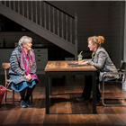Alex Kingston and Margot Leicester in Admissions at Trafalgar Studios. Photo Credit: Johan Persson