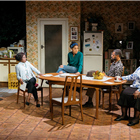 Oliver Alvin-Wilson, Natasha Gordon, Rebekah Murrell, Karl Collins and Cecilia Noble in Nine Night at The Trafalgar Studios, Photo: (c) Helen Murray