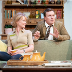 Claire Skinner and Toby Stephens in A Day in the Death of Joe Egg at Trafalgar Studios 1 - Photo credit Marc Brenner