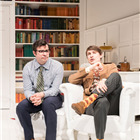 Simon Bird and Tom Rosenthal in The Philanthropist at Trafalgar Studios.