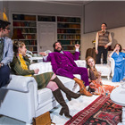 Simon Bird, Matt Berry, Lily Cole, Tom Rosenthal and Charlotte Ritchie in The Philanthropist at Trafalgar Studios.