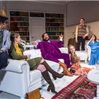 Simon Bird, Matt Berry, Lily Cole, Tom Rosenthal and Charlotte Ritchie in The Philanthropist at Trafalgar Studios.