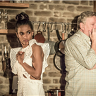 Freema Agyeman and Desmond Barrit in Apologia - credit: Marc Brenner