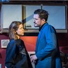 Sophie Cookson as Dottie Smith and Orlando Bloom as Killer Joe Cooper in Killer Joe at Trafalgar Studios. Photo Credit: Marc Brenner.