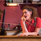 Neve McIntosh as Sharla Smith in Killer Joe at Trafalgar Studios. Photo Credit: Marc Brenner.
