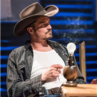 Orlando Bloom as Killer Joe Cooper in Killer Joe at Trafalgar Studios. Photo Credit: Marc Brenner.