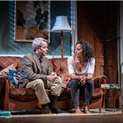 Rosalind Eleazar and Matthew Broderick in The Starry Messenger at Wyndhams Theatre. Photo credit: Marc Brenner.