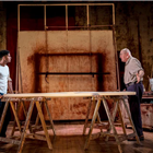 Alfred Enoch and Alfred Molina in Red at Wyndham's Theatre. Photo by Johan Persson.
