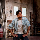 Alfred Enoch in Red at Wyndham's Theatre. Photo by Johan Persson.