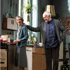 Eileen Atkins and Jonathan Pryce in the West End production of The Height of the Storm. Photo Credit: Hugo Glendinning.