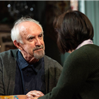 Jonathan Pryce and Amanda Drew in the West End production of The Height of the Storm. Photo Credit: Hugo Glendinning.