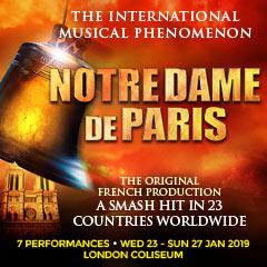 Book Notre Dame de Paris Tickets