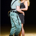 Eric Cutler (Don Jose) and Justina Gringyte (Carmen) in Bizet's CARMEN at the London Coliseum. Photo by Alastair Muir
