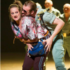 Eleanor Dennis (Micaela) and George Humphreys (Morales) in Bizet's CARMEN at the London Coliseum. Photo by Alastair Muir