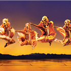 Leaping lionesses, by Johan Persson.