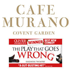 Book The Play That Goes Wrong + 2 Course Post-Theatre Dinner at Café Murano Covent Garden Tickets