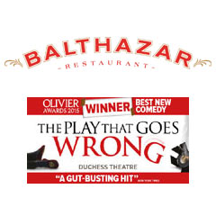 Book The Play That Goes Wrong + 2 Course Meal at Balthazar Tickets