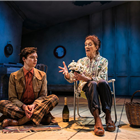 Patrick Walshe McBride and Linda Marlowe in Harold And Maude at the Charing Cross Theatre, London. Credit: Darren Bell