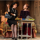 Rebecca Caine and Linda Marlowe in Harold And Maude at the Charing Cross Theatre, London. Credit: Darren Bell