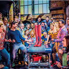 The West End cast of Kinky Boots at the Adelphi Theatre, London. Photo credit: Darren Bell.