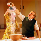Lizzy Muncey and Giles Cooper in Nigel Slater's Toast at The Other Palace. Photo credit: Simon Annand