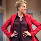 Tamsin Greig in Labour of Love. Photo by Johan Persson.