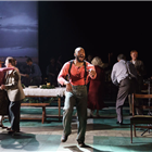 The cast of Girl From the North Country at the Noel Coward Theatre, London
