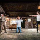 Denis Conway, Chris Walley and Aidan Turner in The Lieutenant of Inishmore. Credit: Johan Persson.