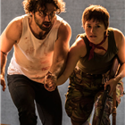 Aidan Turner and Charlie Murphy in The Lieutenant of Inishmore. Credit: Johan Persson.