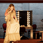 Lily James in All About Eve at Noel Coward Theatre, London. Photo credit: Jan Versweyveld