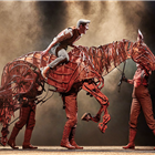 Scott Miller, Rianna Ash, Alex Hooper, Mark Matthews in War Horse at Troubadour Wembley Park Theatre photo credit Brinkhoff & Mogenburg