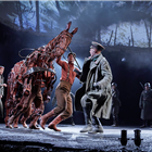 Jack SImpson, Tom Stacy, Domonic Ramsden, Andrew Keay,  War Horse at the Wembley Troubadour Theatre photo credit Brinkhoff & Mogenburg