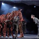 Christopher Naylor, Tom Stacy, Domonic Ramsden, Alex Keay,  War Horse at the Wembley Troubadour Theatre photo credit Brinkhoff & Mogenburg