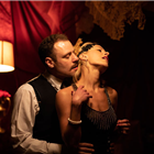 S. Donnelly and J. Guise in The Great Gatsby at Gatsby's Drugstore, London.